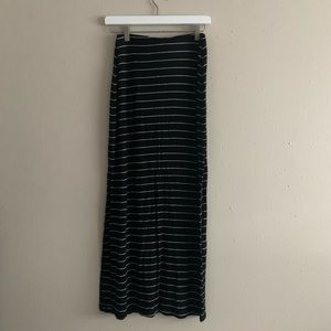 Old Navy Jersey Striped Maxi Skirt